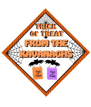 Personalised Halloween Window Sign Design 3